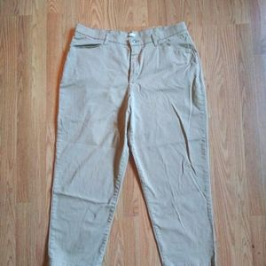 Lee At The Waist Tan Pants 18W Petite EUC